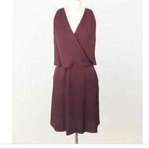 Burgundy silk Theory Dress